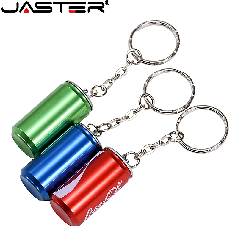 JASTER Fashion Hot Selling Metal Coca Cola Tank USB Flash Drive USB 2.0 4GB 8GB 16GB 32GB 64GB USB External Storage Disk