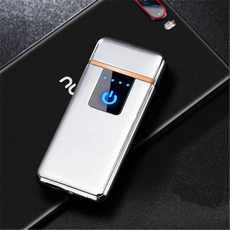 Сенсорная Индукционная USB перезаряжаемая Зажигалка для зарядки Электронная Зажигалка Ветрозащитная беспламенная металлическая зажигалка для мужчин|Зажигалки|   | АлиЭкспресс