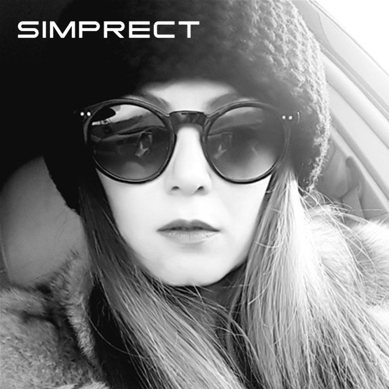 SIMPRECT Trendy Round Sunglasses Women 2019 Retro Sunglasses Vintage Mirror Luxury Sun Glasses For Women UV400 Zonnebril Dames