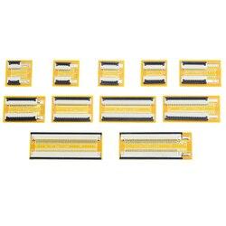 Placa de extensión de Cable plano Flexible FPC FFC, amarilla, 1 Uds., 1,0mm, Paso 4P 6P 8P 10P 12P 16P 20P 24P 30P 34P 40PIN