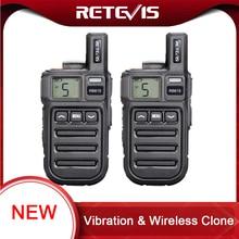 تذكير الاهتزاز Retevis RB615 Mini PMR لاسلكي تخاطب 2 قطعة PMR446 PMR راديو FRS VOX يدوي اتجاهين راديو لاسلكي استنساخ