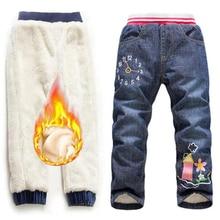 2-7Yrs Kids Add Wool Jeans Trousers 2019 Baby Boys Girls New Arrival Fashion Brand Children Denim