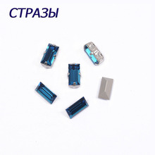 CTPA3bI 4501 Baguette Montana Rhinestones Glass Needlework Accessories Beads For Jewelry Making And Decorating Craft Application