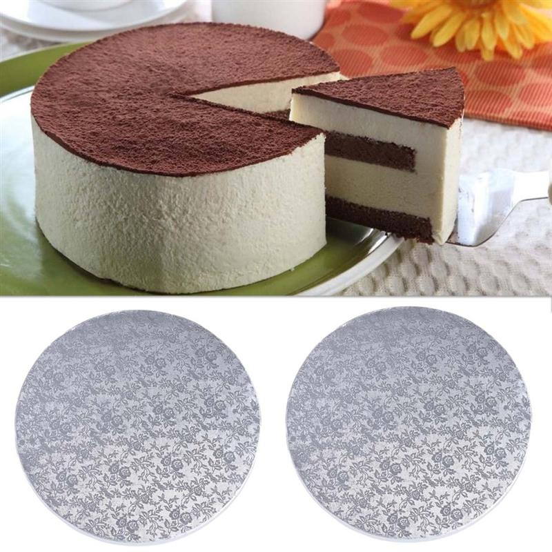 8/10/12 Inch Round Cake Board Dessert Displays Tray For Wedding Birthday Party Decor Cakes Moving Plate Turntable Baking Tool