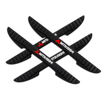 4PCS Car Door Anti-Collision Bumper Strip Sticker Car Styling Decals For Mitsubishi ASX Lancer 9 10 Outlander 3 Pajero L200 EX 4 pcs set fashion car styling wheel round tire valve caps for mitsubishis asx lancer pajero outlander l200 evo lancer ex pajero