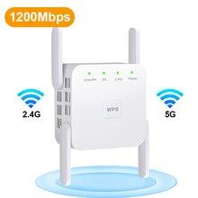 Repetidor WiFi inalámbrico 5G amplificador WiFi 2,4G 5 Ghz amplificador Wi-Fi 300Mbps 1200 Mbps 5 ghz extensor de señal WiFi de largo alcance