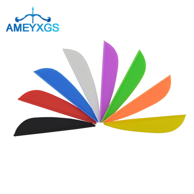 50//100PCS 2/'/' Archery Arrow Vanes Fletches Feather Rubber DIY Bow Hunting