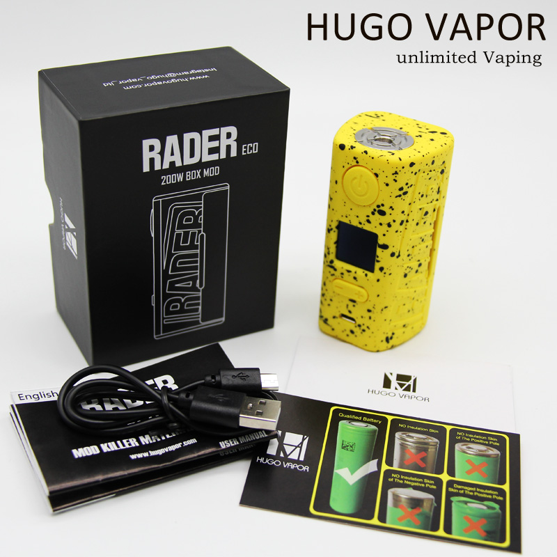 Hugo Vapor Rader ECO 200W Dual 18650 Battery Box Mod 2