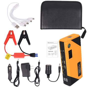 1200A JX31 Display Real 12000mAh 12V Car Jump-Starter Portable USB Emergency Power-Bank Battery Booster Clamp 1000A DC Port 3/6L