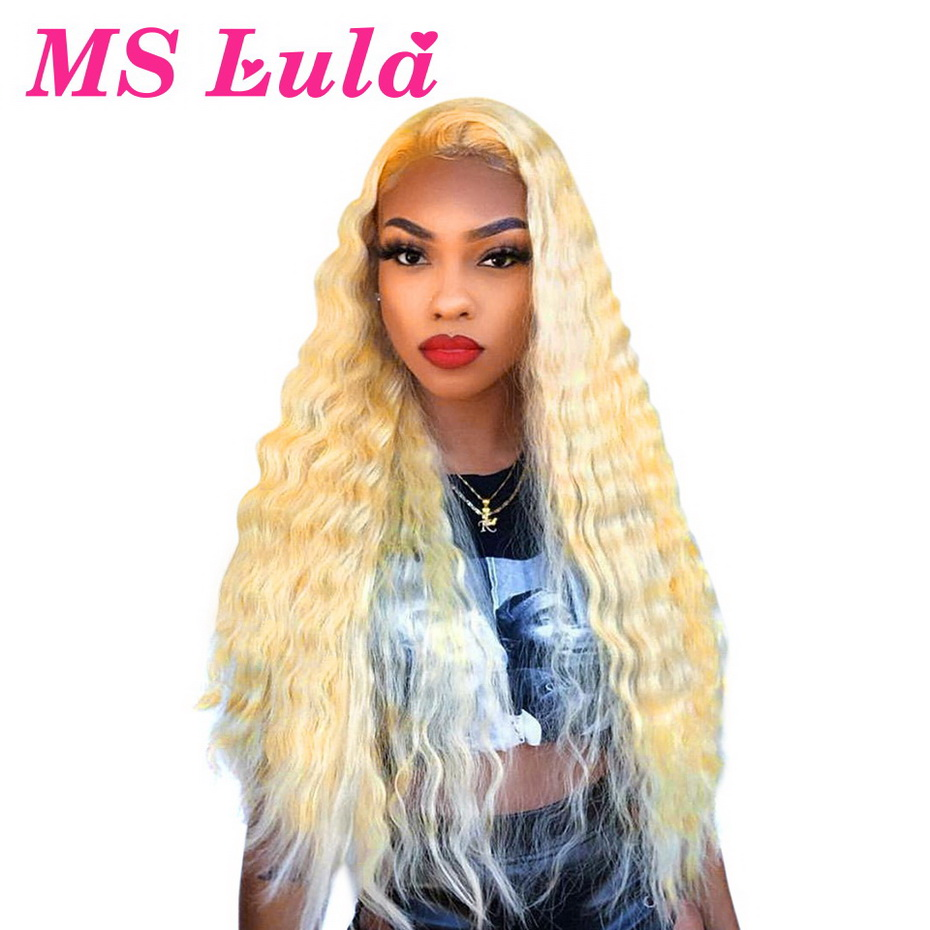 Blonde Colored 613 Wig Brazilian 13x6 Lace Front Human Hair Wigs For Women Deep Wave Wig With Baby Hair Bleached Knots Remy 150%