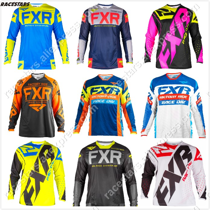 NEW FXR Motocross Shirt Motorcycle Jacket Off-road T-shirt Ride Bicycle Long-sleeve Shirt Motocross Jersey Moto Jersey Jaqueta