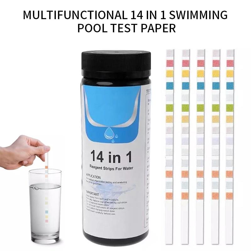 Питьевой Набор для проверки воды качество воды тест-полоски 14 в 1 тест-полоски для питьевой воды 50/100 шт тест-полоски для водопроводной воды