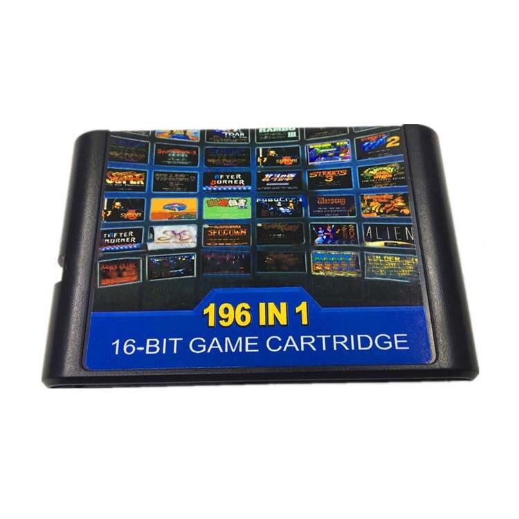 196 in 1 for 16 bit Sega Mega Drive Multi Game Cartridge with Golden Axe Fatal Fury 1 2 Flash Back X Man 2 Earthworm Jim