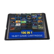 196 in 1 for 16 bit Sega Mega Drive Multi Game Cartridge with Golden Axe Fatal