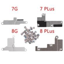 10 قطعة/الوحدة البطارية غطاء معدني قوس آيفون 7 جرام 8 زائد مسامير كاملة مع شاشة LCD فليكس موصل قوس معدني إصلاح الاسمية