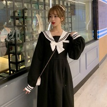 Summer Girl Navy Collar Japanese Style Long Sleeve Dress Women Sailor Jk Suit High School Uniform Kawaii Anime Cosplay Costumes