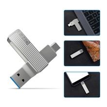 Jessis U disque 32GB 64GB 128GB enregistreur type c double clé USB OTG USB 3.1 clé USB pour téléphone tablette PC MAC