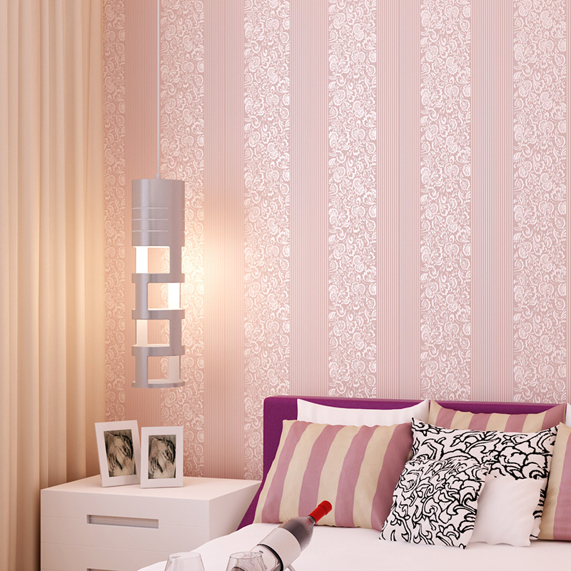Hotel Studio Plain Color Engineering Wallpaper Hotel Wall-to-Wall Stripes Solid Color Living Room Television Background Wall Wal