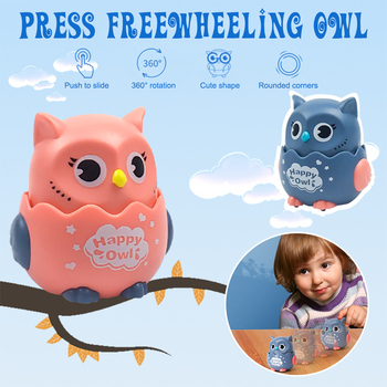 Pressing inertial sliding owl snail Small toy random color Cartoon Kindergarten Children's Gift for Cute Kids  Educational