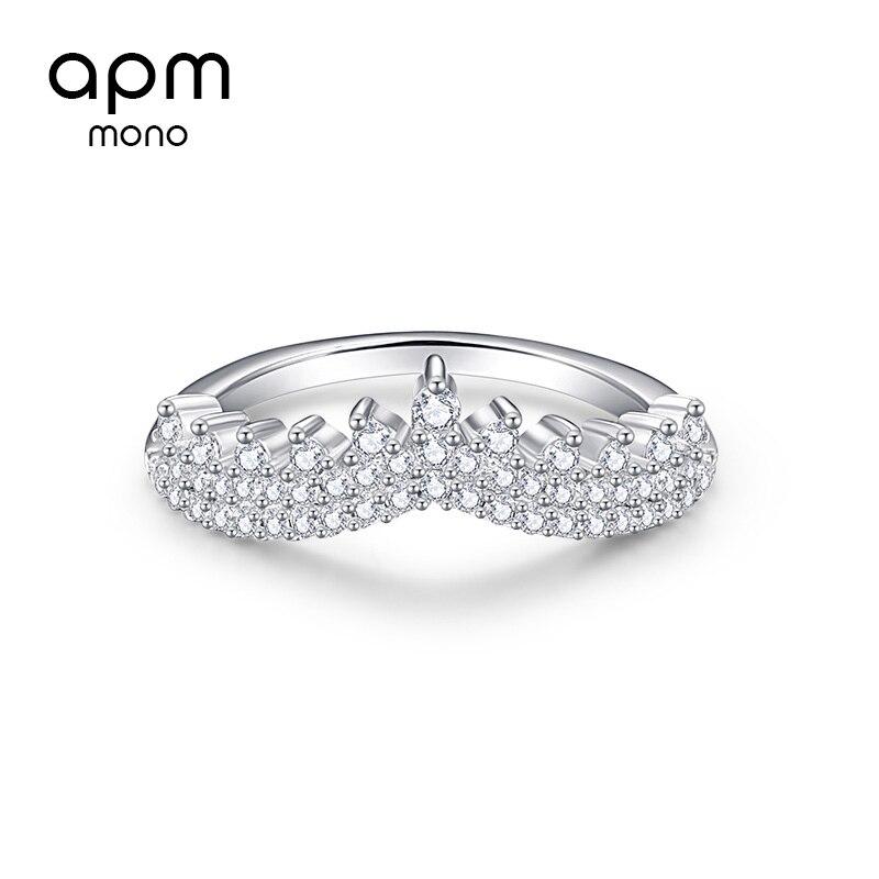 APM MONO couronne bague femme argent plaqué personnalité tempérament zigzag dentelle index simple anneau mode bague fête des mères cadeau