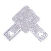 Neue 3 Weg Ende Ecke Halterung Stecker für T slot Aluminium Extrusion Profil 2020 serie (Pack von 4  mit schrauben)|Eckverbinder|   -