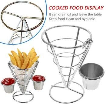 Cesta de soporte de acero inoxidable Para freír patatas fritas, utensilio de...