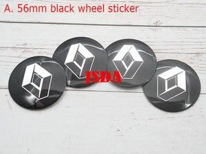 Image 3 - Tapacubos de centro de rueda con logo de Renault, reajuste de llanta, a prueba de polvo, pegatina decorativa, 4 Uds., 56mm, 60mm