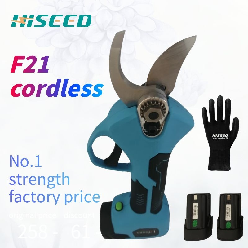 Best Hiseed  Cordless Battery Electric Pruning Shear,scissor,manual Mini Cutter Tree Branch Scissor Trimmer