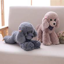 Plush Realistic Teddy Dog Animal Doll Stuffed Toy Couch Sofa Decor Pillow Birthday Gifts for Kids Kawaiii Valentine Present(China)