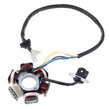 GY6 125 Motorcycle Scooter Generator 6 Coils Magneto Stator for 125cc and 150cc Chinese GY6 Engine ATVs Go Karts Mopeds