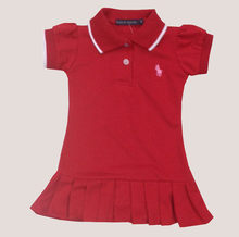Children's Sports Dress Baby Baby Pearl Mesh Cotton Pleated Dress Girl Tennis Pure Collar Short Dress(China)