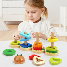 Wooden Montessori Toy Kids Geometric Shape Sorting Board Baby Puzzle Early Educational Toy learning math toys for children toy math board games for adults russian learning resources homeschool kids tiny toys educational penguin