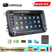 Автомагнитола LeeKooLuu, 2 Din, GPS-навигация для VW/Golf 5 6/Polo/Tiguan/Passat b7 b6/Seat leon/Skoda, автомобильный мультимедийный плеер на Android