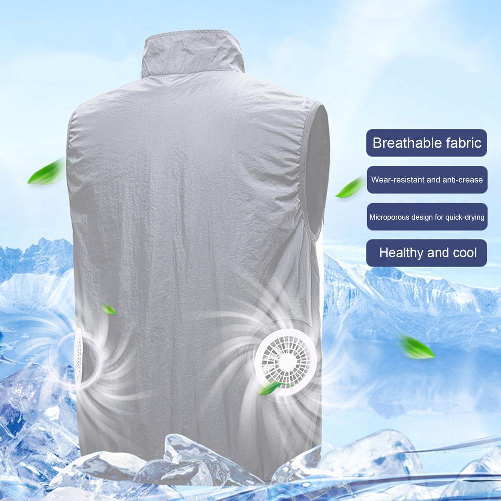 2 fãs unisex camisa com ar condicionado