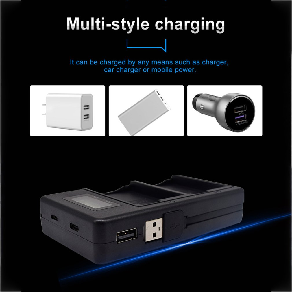 WGC DBKLP E8 C Lcd Digital Display Charger Dual slotCharger of Charging Electricity Battery Charger For Canon in Camera Charger from Consumer Electronics
