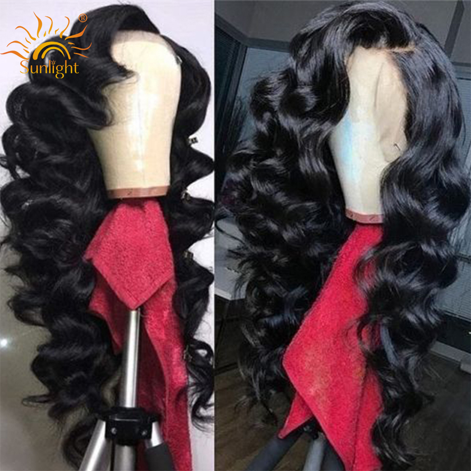 150 Density Loose Wave Wig Lace Front Human Hair Wigs For Women Sunlight Malaysian Wig Glueless Remy 13x4 Pre Plucked Lace Wigs