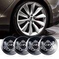 Автомобильный Стайлинг 4 шт./компл. 56 мм 3D корона лев vip эмблемы автомобиля рулевое колесо центр стикер концентратора Кепки наклейки аксессу...