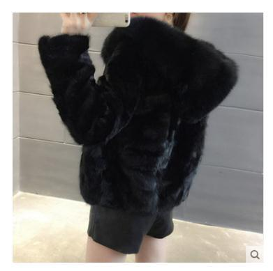 Free Shipping.winter Thick Warm Women Genuine Mink Fur,patchwork Real Fur Jacket.fashion Lady Fox Hair Collar Leather Coat.