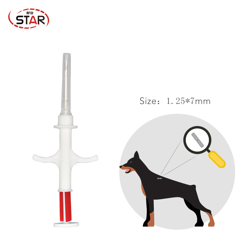 10pcs 1.4x8/2.12x12/1.25x7mm Size FDX-B ISO11784/5 RFID Implant Chip Syringe Animal Microchip Syringe For Pet Dog Cat Fish