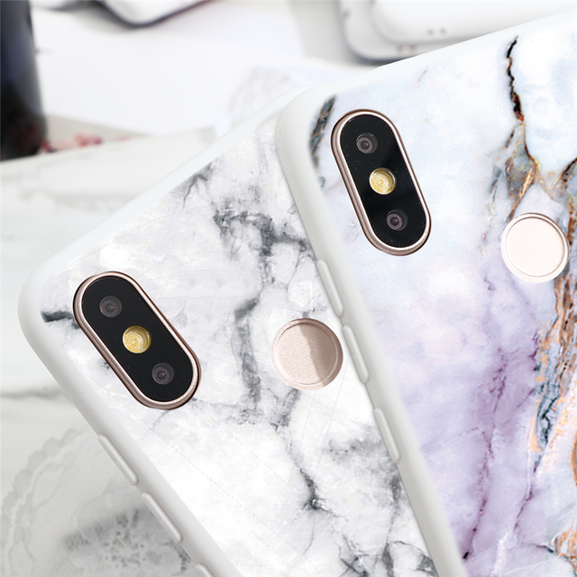 Marble Case For Xiaomi For Redmi Note 8 7 5 6 9 Pro 8T 7A 6A Mi A3 A1 A2 6X 9T 8 9 Lite SE F1 CC9 CC9e Note 10 TPU Cover Fundas 3