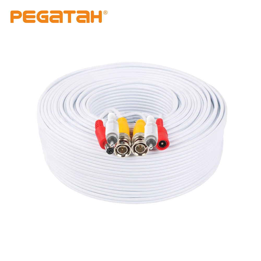 50M Security Camera Video Audio Power Cable Wire Cord For CCTV DVR Surveillance System