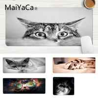 MaiYaCa Hot Sales Animal Cat Blue Eyes Laptop Computer Mousepad Laptop Gaming Lockedge Mice Mousepad Gaming Mouse Pad