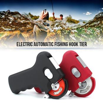 Fishing Hook Portable Electric Automatic Fishing Hook Tie Fast Fishing Line Tying Device Automatic Hook Fishing Accessories multi function automatic fishing gear lazy alarm fishing tackle hook double hook automatic fishing launcher