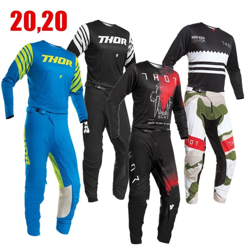 2020 PRIME Bmx Enduro Kit  Motocross Racing Suit 4 Way Stretch Mx Jersey And Pants Motorbike Men's Kit Moto Gear Set ATV Combo