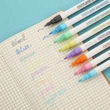 8Colors/Set Double Line Metal Outline Art Marker Out Line Highlighter Scrapbooking Color Pen Bullet diary Graffiti Poster card