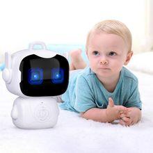 Милый детский Интеллектуальный робот, Игрушки для раннего образования, умная обучающая игрушка, робот с сенсорным сенсором и голосовым управлением