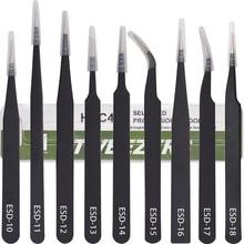 Black VETUS Tweezers HRC40 Antistatic Stainless Steel Nipper