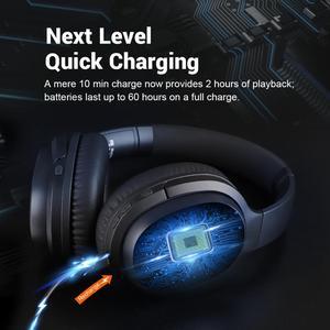 Image 5 - EKSA E5 Bluetooth 5.0 cuffie Wireless 920mAh cuffie con cancellazione attiva del rumore cuffie Over Ear pieghevoli con microfono per telefoni