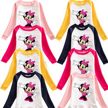 Baby Clothes 2020 Foreign Trade 2020 New Children's Clothing Autumn Minnie Mouse Cartoon Sweater Girl Dress Baby Cotton Dress(China)