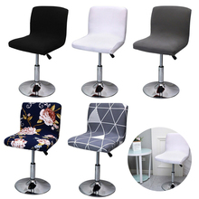 Bar Stool Chair-Cover Stretch Spandex Dining Office-Seat-Case Back-Bar Low